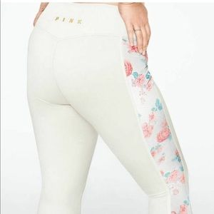 PINK VS Floral Fleece Leggings